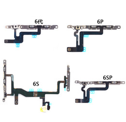 "Wholesale Iphone Parts Mic - Original Power Switch ON OFF Button Flash Light Mic Vomule Flex Cable Ribbon For iPhone 6G 6 Plus 4.7'' 5.5"" 5S 5 5C 4S 4 Replacement Part"