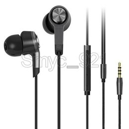 Wholesale Earbuds Mic Remote Mp3 - Xiaomi Piston 3 Earphone 3.5mm in ear Miband Stereo cell phone Earphones Earbuds With Remote Mic handsfree volume earphone for xiaomi