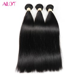 Wholesale Indian Hair Smooth - ALOT 2017 Grade 8A Indian Virgin Straight Hair 100% Human Hair 3-4 Bundles 100% Unprocessed Deal Soft and Smooth Extensions 8-28inch