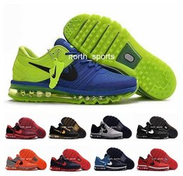 Wholesale Max Sneakers For Men - Newest Cheap Max 2017 Mens Running Shoes Hot Selling Original Quality KPU Sneakers For Men Maxes Sports Athletic Trainers Eur 40-47