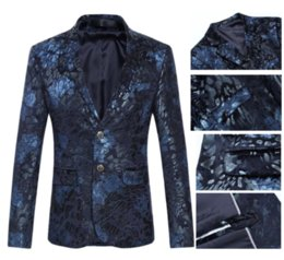 Wholesale Wedding Party Wear Suit Mens - M-6XL Mens Blazers Single Breasted Party Wedding Wear Casual Blazers Suits Plus Size
