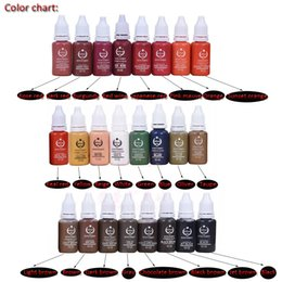 Wholesale Tattoo Ink For Free - Top Quality Biotouch Lip Tattoo Pigment Ink 12pcs Lot for Digital Tattoo Makeup Machine with Permanent Feature Free Shipping