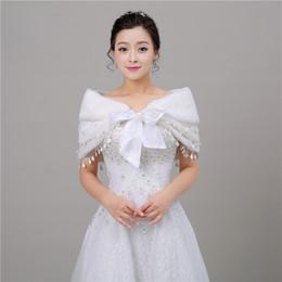 Wholesale Evening Stoles Wraps Shrugs - Elegant Bridal Wrap Shawl Coat Jackets Boleros Shrugs Faux Fur Stole Capes For Wedding Evening Party Free Shipping