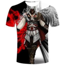 assassini creed t shirts Sconti Novità / Womans Assassins Creed maglietta di estate del Mens di stile unisex divertente 3D stampa casuale T-shirt AA290