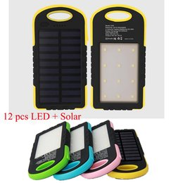 Wholesale External Solar Phone Usb Charger - Tropweiling A50 Solar Power Bank 8000mah portable charger with dual usb external battery powerbank for All phones solar charger