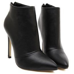 Wholesale Hot Boots For Girls - New Fashionable Women Shoes Zapatos Mujer Imitation Leather Short Pump Boots and Shoes for Girls High Heel Hot Sale Shoes .XZ-044