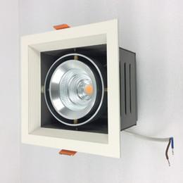 Scatola di ferro in alluminio online-Regolazione 9W 15W 25W 35W LED Grille Luce quadrata per installazione a soffitto Alloggiamento in ferro Scatola driver anima in alluminio collegata