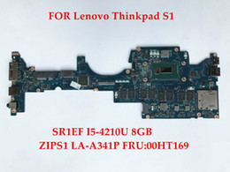 Wholesale Laptop I5 8gb - Wholesale High quality laptop motherboard for Lenovo Thinkpad S1 ZIPS1 LA-A341P FRU:00HT169 SR1EF I5-4210U 8GB 100% Fully Tested