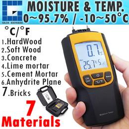 Wholesale Cement Brick - VA-8040 Portable Digital Dual Moisture & Temperature Meter degree C and F Wood Cement Bricks Auto Manual Range
