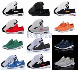 Wholesale Skateboard Shoes Low - 12 Color Hot Sale SB Stefan Janoski Max Running Shoes Men And Women Fashion Konston Lightweight Skateboard Athletic Sneakers Maxes