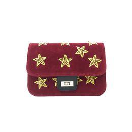 Wholesale Borse Donna - ashion Mini canvas women Crossbody messenger bags five-pointed star Pentagram handbags borse da donna marche famose crossbody bag with chain