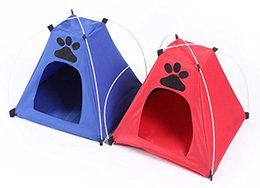 Wholesale Folding Tent Canopy - Portable Folding Dog House Sun Beach Tent for Indoor,Outdoor Waterproof Pet Tent Dog Bed Crate for Summer Small Size Dogs and Cats