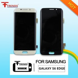 Wholesale Galaxy Screen Assembly - Original new For Samsung Galaxy S6 Edge G9250 G925V G925A G925F G925K G925L G925P G925S G925T LCD display Touch Screen Digitizer Assembly