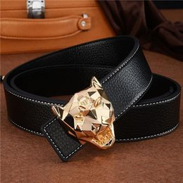 Wholesale Womens White Leopard - Designer luxury leopard belt Fashion Popular P Belt Hot Brand Mens womens Quality Genuine Leather Designer Cowhide Belts For Men Luxury Belt