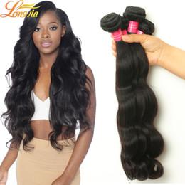 Wholesale 4pcs Brazillian Hair - Factory Products Brazilian Body Wave 4Pcs Lot Extension 100% Unprocessed Virgin Human Hair Weave Cheap Brazillian Hair Body Wave Bundles