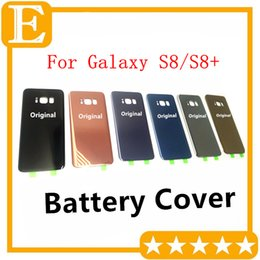 Wholesale Oem Back Cover - OEM New Back Glass Cover for Samsung Galaxy S8 G950 VS S8 Plus G955 Rear Battery Cover Door Housing Replacement 30PCS Lot DHL