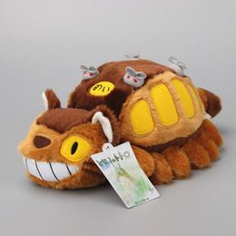 "Wholesale Totoro Teddy Bear - totoro catbus Anime Totoro Catbus My Neighbor Ghibli Cat Bus Plush Toys Stuffed Dolls Animal Figures Kids Gift 12"" 30 CM"