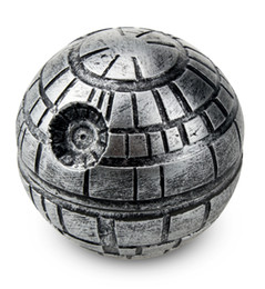 Wholesale Death Stars - Star Wars Death Star Grinder Zinc alloy Herb Spice Crusher Smoke Grinder 50mm