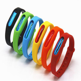 Wholesale Mosquito Controlling Bracelets - adjustable Waterproof Anti Mosquito Pest Control Insect Repellent Repeller WristBand Bracelet Kids Audit outdoor Wrist Band Bracelet