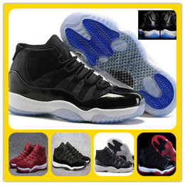 Wholesale Stretch Fabric Womens Shoes - Wholesale Retro 11(XI) Basketball Shoes Space Jam Velvet Heiress Wool Concords Mnes Sports Shoes Retro 11s Athletics trainer womens sneakers