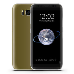 Wholesale Unlocked Cheap Quad Band - Cheap Goophone S8 2G GSM Unlocked Quad Band 5.2 inch IPS 960*540 qHD Dual Core MTK6572 512MB+512MB+32GB Android 7.0 GPS WiFi Smartphone Gold