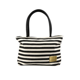 Wholesale Striped Tote Bags - Wholesale-Naivety 2016 New Women Black&White Vintage Striped Canvas Bag Lady Fashion Handbag Tote JUN28