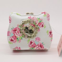 Wholesale flower news - Wholesale- 2016 news Flower cat coin purse Hello Kitty baby Wallet Cartoon Women Change Purse High quality PU white hasp small pouch
