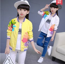 Wholesale Sportwear Set - Fashion Sportwear Girls Children's Clothing Spring Autumn Full Sleeve Baby Girls Clothes Sets Pants Kids Outfits