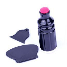Wholesale xl stamper - Wholesale- 1PC Nail Art Tool XL Stamper + 2 Scraper Set Kit Stamp Stamping Device Plate Nail Art DIY Tools