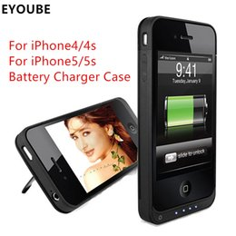 Wholesale Iphone4 Battery Cases - Eyoube for iPhone4s 4 4000mAh Rechargeable External Battery Charger Case Cover Pack Power Bank for Apple iPhone4 4S