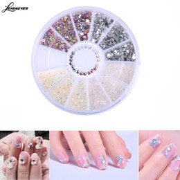 Wholesale Diy 3d Resin Nail Art - 1 Box Colorful Jelly Resin 3D Nail Art Flatback Rhinestone Gems DIY Manicure