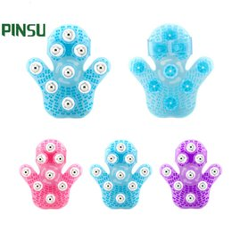 Wholesale Massager Metal Balls - Palm Shaped Massage Glove Body Massager with 9 360-degree-roller Metal Roller Ball Beauty Body Care