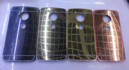Wholesale Lg G2 Frame - For Moto G5 Plus G4 G3 G2 LG G6 Luxury Mirror Case+Metal Aluminum Bumper Frame For Sony Xperia C3 Bling Plastic Hybrid Hard PC Cover Skin