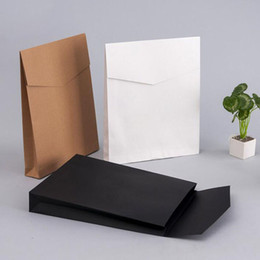 Wholesale Gift Boxes For Wedding Presents - Kraft Paper Envelope Gift Boxes Present Package Bag For Book Scarf Clothes Document Wedding Favor Decoration ZA4293