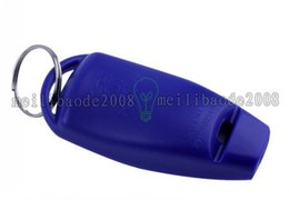 Wholesale Dog Whistle Clicker - Dog Puppy Training Clicker Obedience Trainer Pet Click & Whistle Agility Keyring MYY