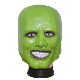 Wholesale Latex Film - Wholesale-X-MERRY Halloween Party Cosplay Latex Mask Jim Carrey Costume Fancy Dress Famous Movie Film Props 'The Mask'