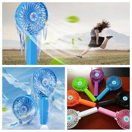 Wholesale Handy Battery - Practical LED Handy USB Fan Foldable Handle Mini Charging Electric Fans Snowflake Handheld Portable For Home Office Gifts CCA5997 50pcs