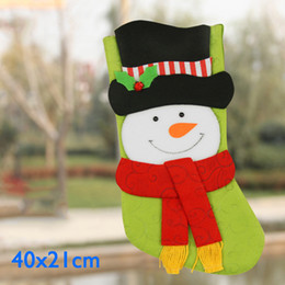 Wholesale Drop Ship Bags - Christmas Stockings Kids Christmas Socks Gift Decorations Bags Socks Santa Reindeer Snowman Candy Bag With Retail Package Drop Shipping