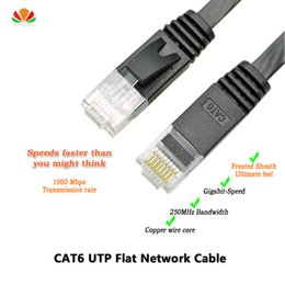 Wholesale Ethernet Cable Pairs - Wholesale- 6ft 2m CAT6 Ethernet cable flat UTP CAT6 network cable Gigabit Ethernet Patch Cord RJ45 network twisted pair Lan cable for GigE