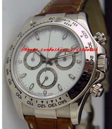 Wholesale Mens Leather Bracelets Brown - Factory Supplier Luxury Watches 116519 White Dial Stainless Steel Bracelet Automatic Mens Men's Watch Watches