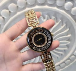Wholesale Special Design Watches - 2017 Fashion Women Watch Big Dial Special Design New Model Lady Wristwatch Steel Gold Color free shipping with box