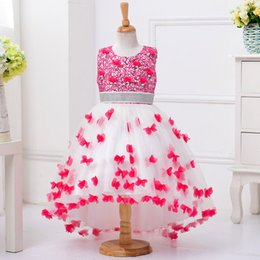 Wholesale Girls Butterfly Tutu - Girls Dresses Butterfly Lace Princess Dress High Quality Tutu Skirt Costume Clothes 3-11Y Children Kids Clothing