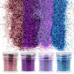 Wholesale Acrylic Nail Tips Small - Wholesale- 1 Pcs Snowflack Shape Nail Glitter DIY Manicure Dust Tips Charms Nail Art Small Size Acrylic Powder BG021-BG024