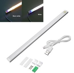 Wholesale Dimmer Bar - Dimming 21LED 6W USB Touch Sensor Light LED Bar Lamp Ultrathin Closet Cabinet Lamp Night Light For Bedroom Bedside Wardrobe