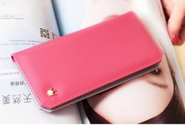 Wholesale Book Style Credit Card Wallet - designer wallets Wallet Flip book Crown women long wallet PU leather woman Purse handbag gift for girlfriend
