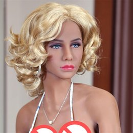 Wholesale Europe Sex Dolls - 168cm Solid Silicone Europe Golden Hair Tan Skin Sex Dolls with Black Skin Golden Hair Lady Sex Dolls Full Body Sweet Voice for Man Masturba