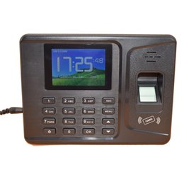 Wholesale Fingerprint Time Attendance Tcp - Wholesale- 2.8 Inches TFT Display 1000 Users TCP IP USB Rfid Fingerprint Time Attendance