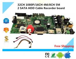 Видеорегистратор бортовой сети видеорегистратор Видеорегистратор 32 канальный с 1080p/16ч 4М/5М 8-канальный 2 SATA жесткого диска кабель для камера ONVIF P2P облако простой операции, КМВ движения NBD7024T-П от