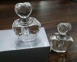 Wholesale Wholesale Perfume Bottle Favors - Valentine gifts Crystal favors Choice delicate Crystal Perfume Bottle Wedding Gfits Souvenirs Party Supplies 50pcs wholesale