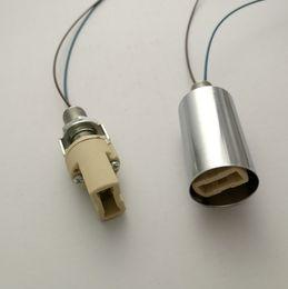 Wholesale G9 Led Ceramic - G9 Socket Ceramic Base Halogen LED Lamp Bulb Light Holder chrome Case